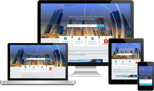 Attractions Perth displayed beautifully on multiple devices